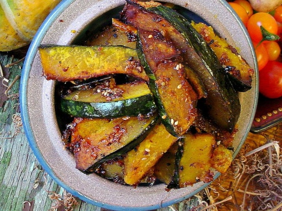 Sweet And Spicy Roasted Kabocha Squash Recipe Genius Kitchen