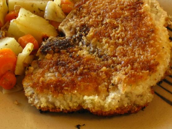 Crispy Oven Fried Pork Chops Recipe Food Com