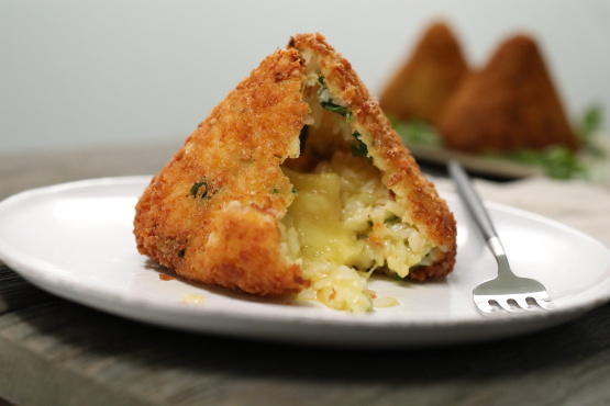 Ham And Cheese Arancini Italian Fried Rice Balls Recipe