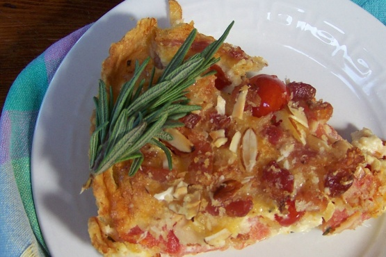 Tomato Tart With Rich Cheese Crust And Almond Bacon Crunch ...