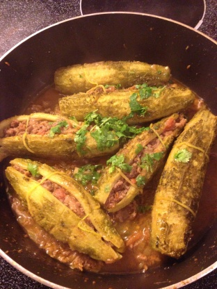 Keema Bhare Karela Stuffed Bitter Gourd Recipe Genius Kitchen