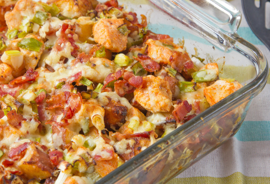 Loaded potato and buffalo chicken casserole recipe genius kitchen forumfinder Images