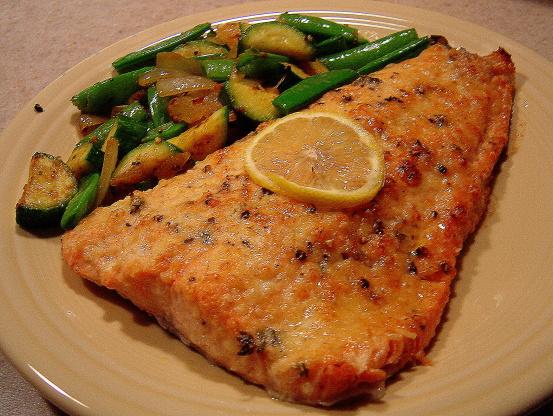 Easy Lemon Parmesan Baked Salmon Recipe - Genius Kitchen