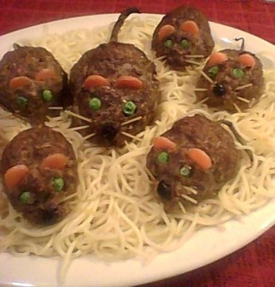 Halloween bloody baked rats recipe genius kitchen for Cuisine halloween