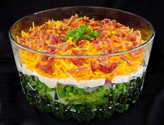yummy 7 layer salad recipe genius kitchen