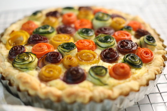 Rainbow Rose Veggie Tart Recipe Genius Kitchen