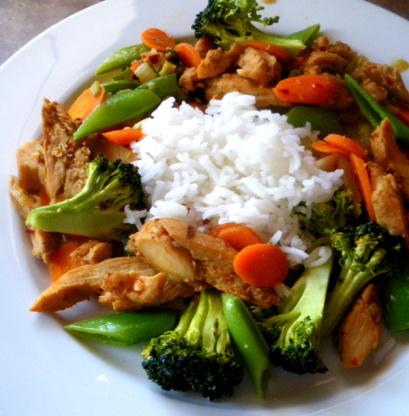 """Kurczak z warzywami """"po chińsku"""""""