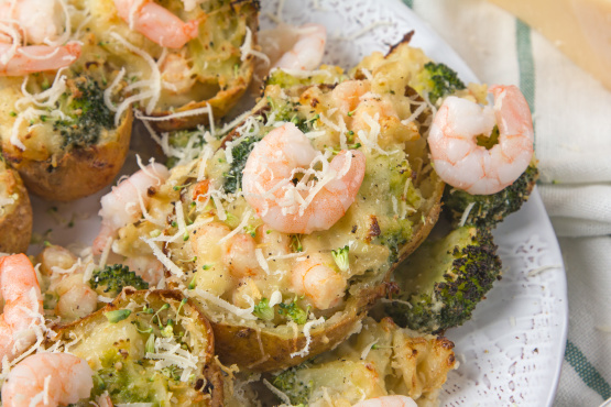Broccoli And Shrimp Stuffed Potatoes Recipe Food Com
