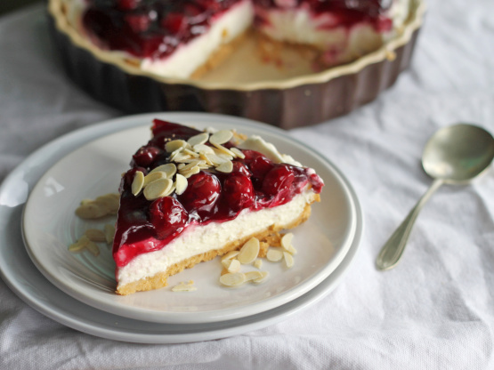 Cherry Almond Creamy Cheese Pie Recipe