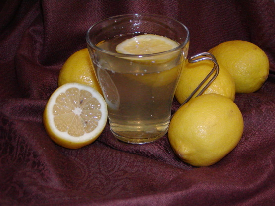 how to make a honey and lemon drink for colds