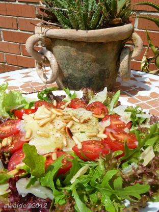 Tomato, Arugula Rocket) And Parmesan Salad Recipe - Genius Kitchen