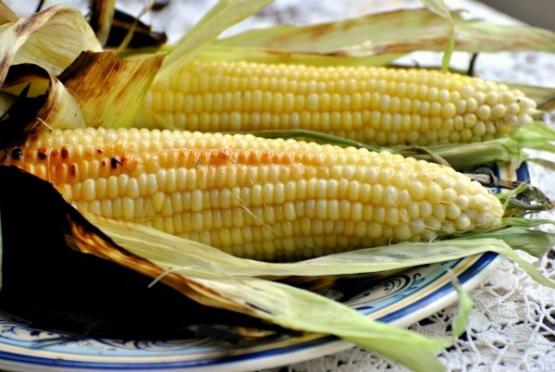 Grilled Fresh Sweet Corn On The Cob In Husks Recipe Genius Kitchen