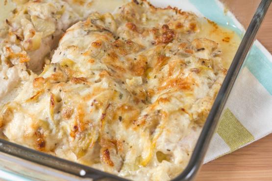 Artichoke And Chicken Bake Recipe Genius Kitchen