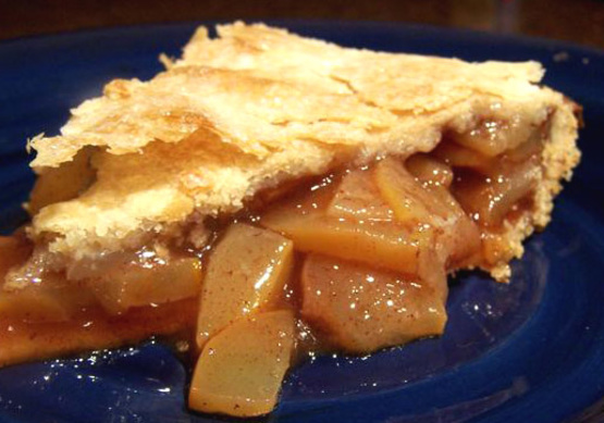 recipe: zucchini apple pie. [1]