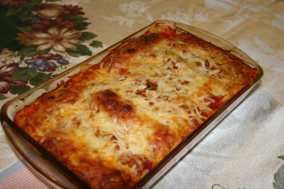 Ground chicken and spinach cannelloni recipe genius kitchen join the conversation forumfinder Images