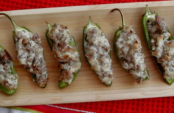 Sausage Stuffed Jalapenos Recipe Genius Kitchen