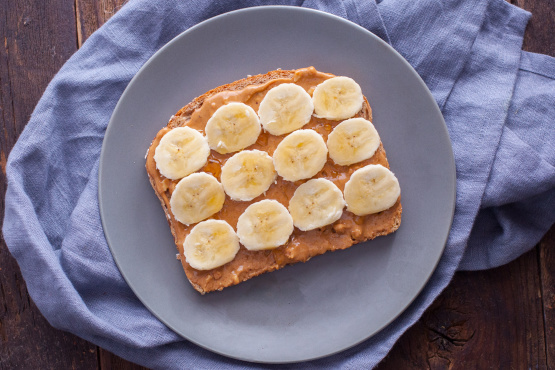 Image result for peanut butter banana toast