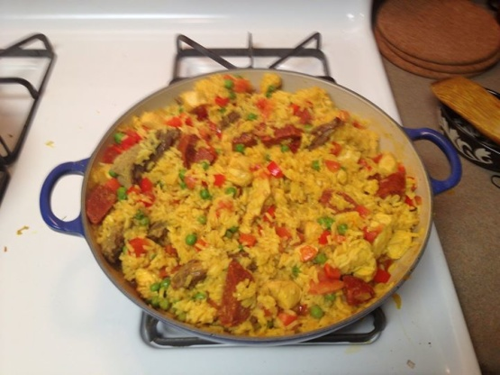 how to make chicken paella