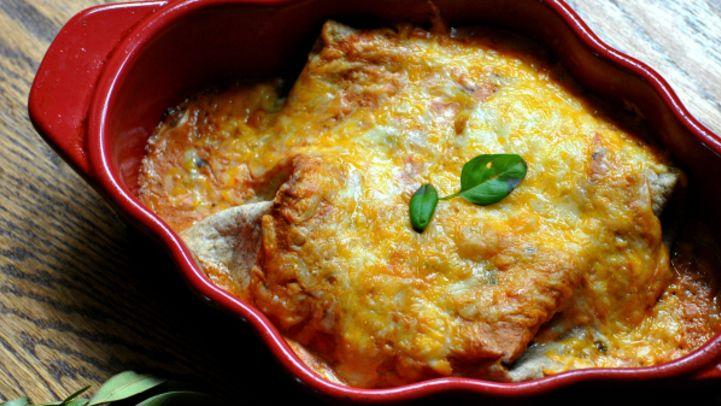 Spinach Cream Cheese Enchiladas