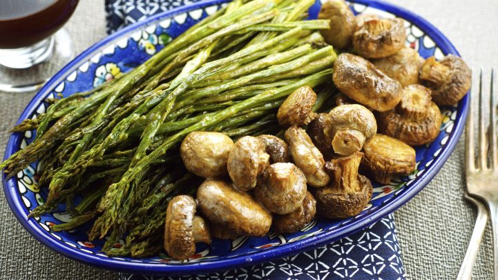 Facebook top picks our 75 most popular recipes slideshow genius roasted asparagus with mushrooms recipe forumfinder Choice Image