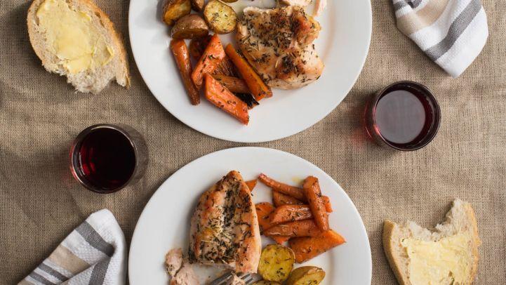 Best chicken comfort food recipes for dinner genius kitchen easy roast chicken dinner recipe forumfinder Gallery