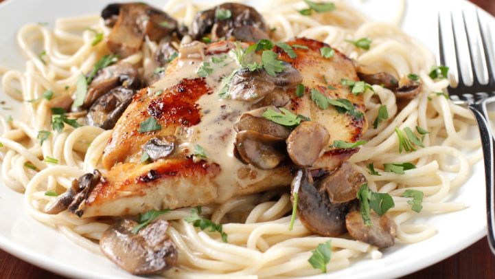 Quick and easy chicken dinners genius kitchen copycat chicken marsala recipe forumfinder Image collections