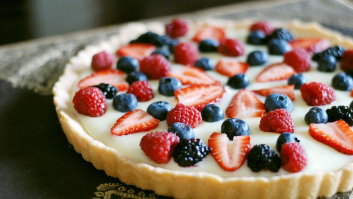 Traditional easter dessert recipes genius kitchen white chocolate fruit tart recipe forumfinder Choice Image