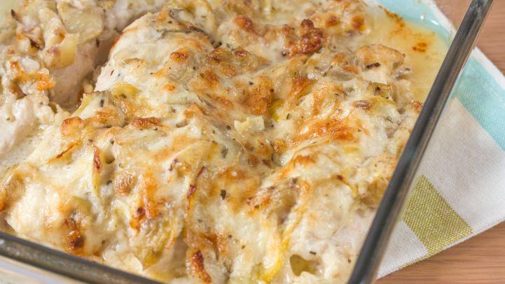 Best chicken comfort food recipes for dinner genius kitchen artichoke chicken bake recipe forumfinder Image collections