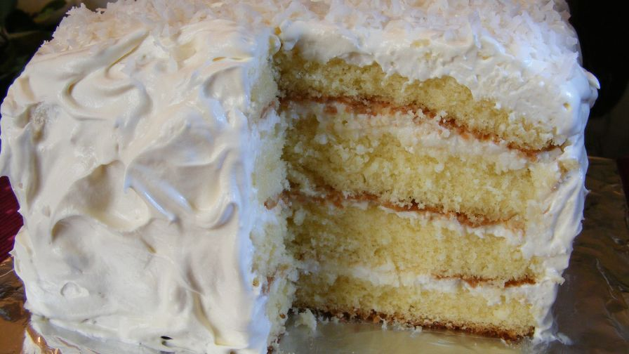 Coconut Sour Cream Cake Recipe Genius Kitchen