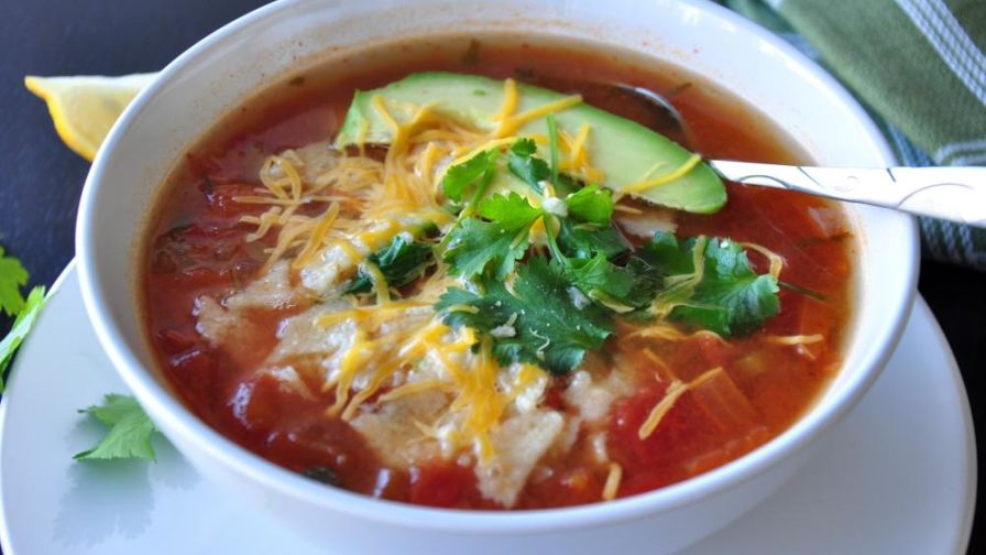 The best chicken tortilla soup recipe genius kitchen 15 view more photos save recipe forumfinder Image collections