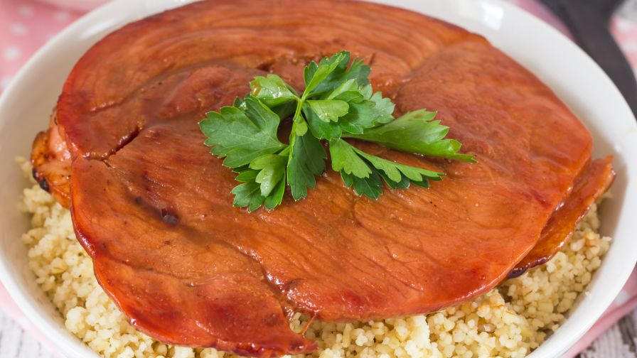 Maple glazed ham steak recipe genius kitchen 11 view more photos save recipe forumfinder Gallery