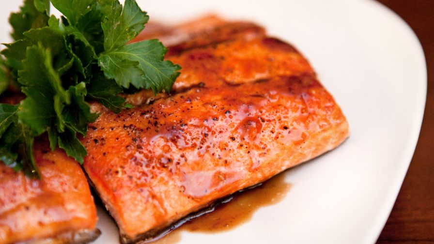 Seared salmon with balsamic glaze recipe genius kitchen 17 view more photos forumfinder Gallery