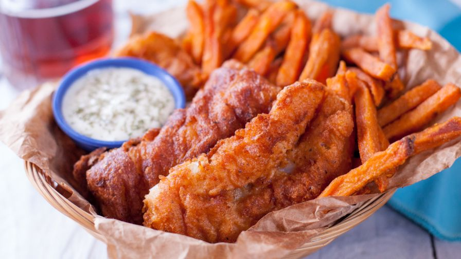 Beer battered fish recipe genius kitchen 10 view more photos save recipe forumfinder Images