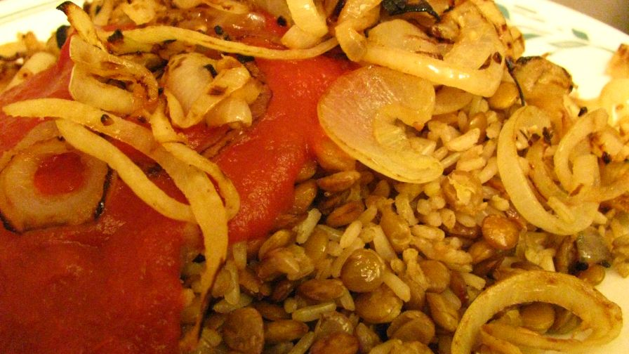 Kusherie egyptian rice and lentils recipe genius kitchen 2 view more photos forumfinder Gallery