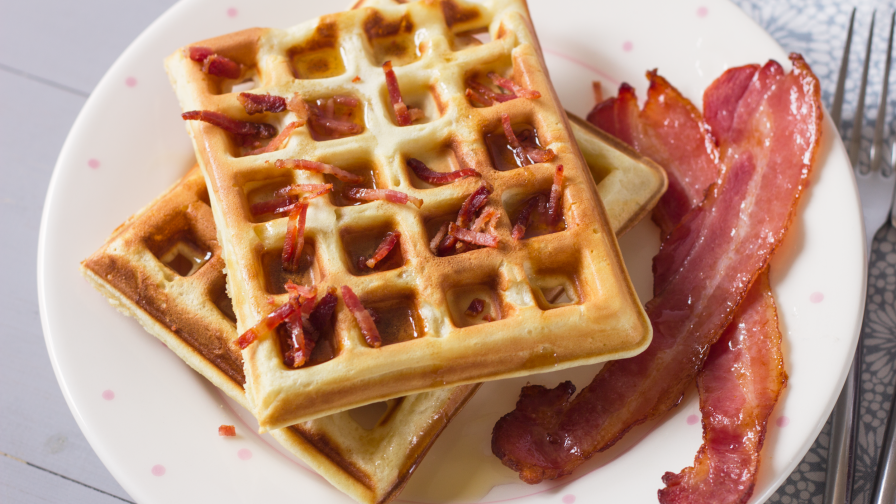 Bacon waffles recipe genius kitchen 5 view more photos save recipe forumfinder Images
