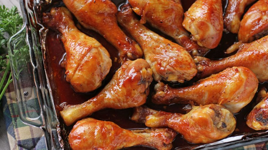 Caramelized baked chicken legs wings recipe genius kitchen 82 view more photos save recipe forumfinder