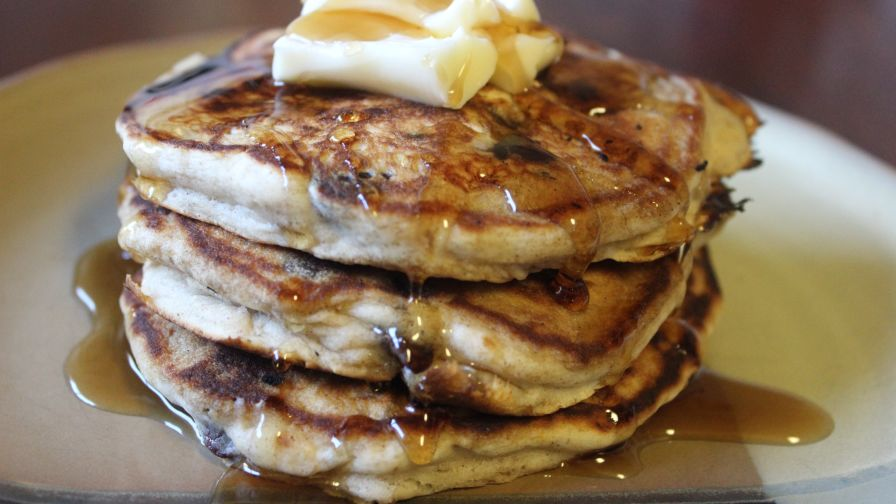 Chocolate chip banana pancakes recipe genius kitchen 4 view more photos ccuart Gallery