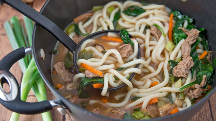 Udon beef noodle bowl recipe genius kitchen forumfinder Choice Image
