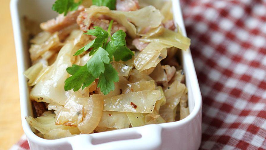 Fried cabbage recipe genius kitchen 10 view more photos save recipe forumfinder Choice Image