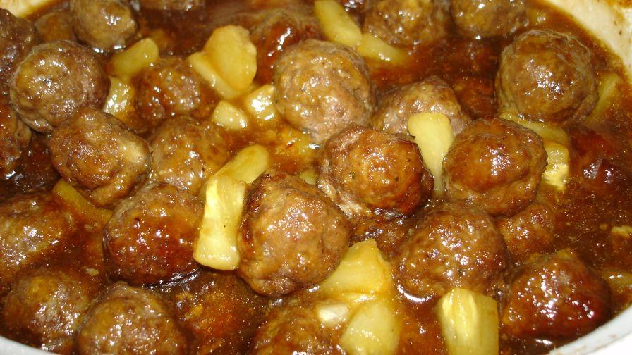Pineapple meatballs recipe genius kitchen 4 view more photos save recipe forumfinder Choice Image