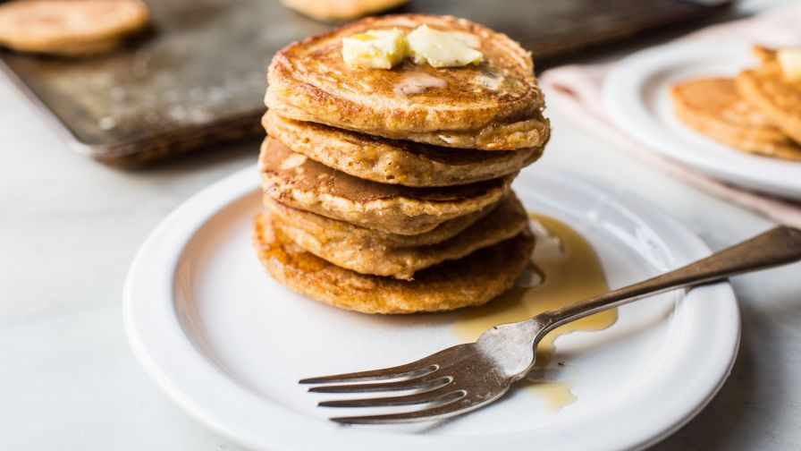 Light and fluffy pumpkin pancakes recipe genius kitchen 25 view more photos save recipe forumfinder Images