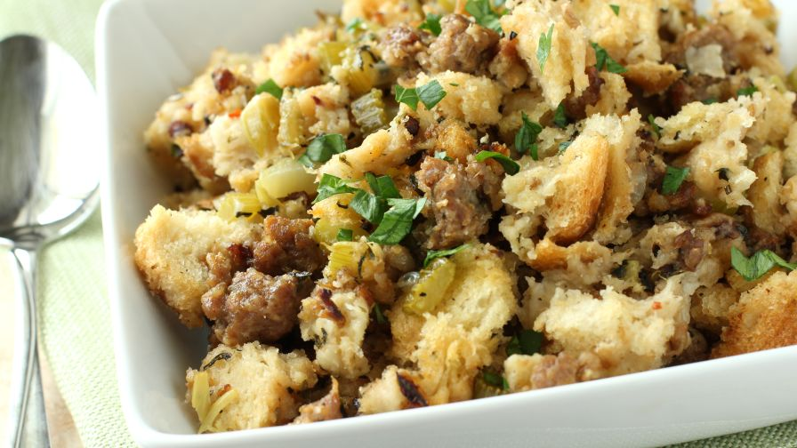 Crock pot bread and sausage stuffing recipe genius kitchen 4 view more photos save recipe forumfinder Images