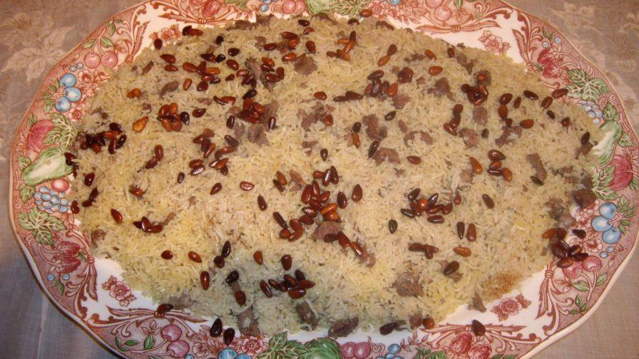 Arabic style rice with lamb meat recipe genius kitchen 1 view more photos save recipe forumfinder Image collections