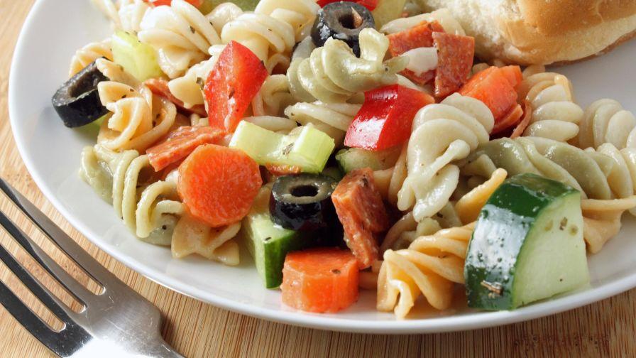 Italian pasta salad recipe genius kitchen 4 view more photos forumfinder Gallery