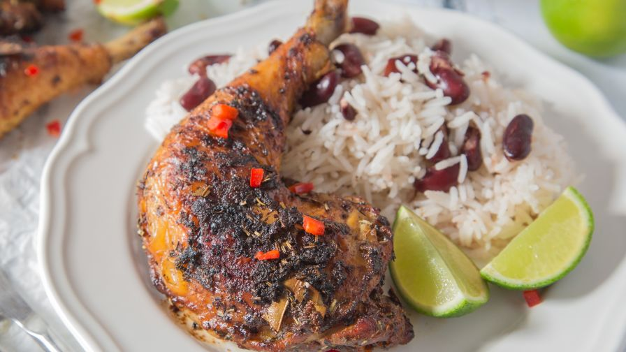 Jamaican jerk chicken and seasoning recipe genius kitchen 7 view more photos save recipe forumfinder Image collections