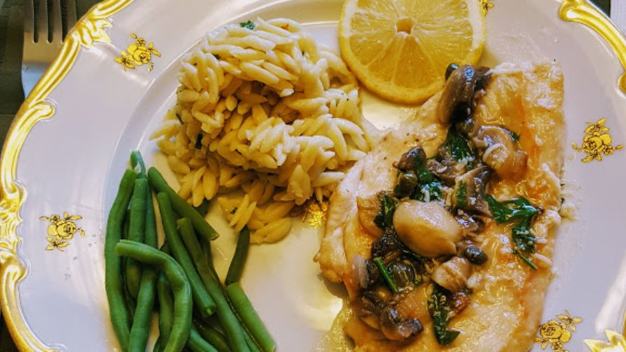 Chicken piccata with mushrooms recipe genius kitchen 3 view more photos save recipe forumfinder Images