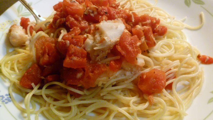 Tilapia mediterranean over angel hair pasta recipe genius kitchen 1 view more photos save recipe forumfinder Gallery