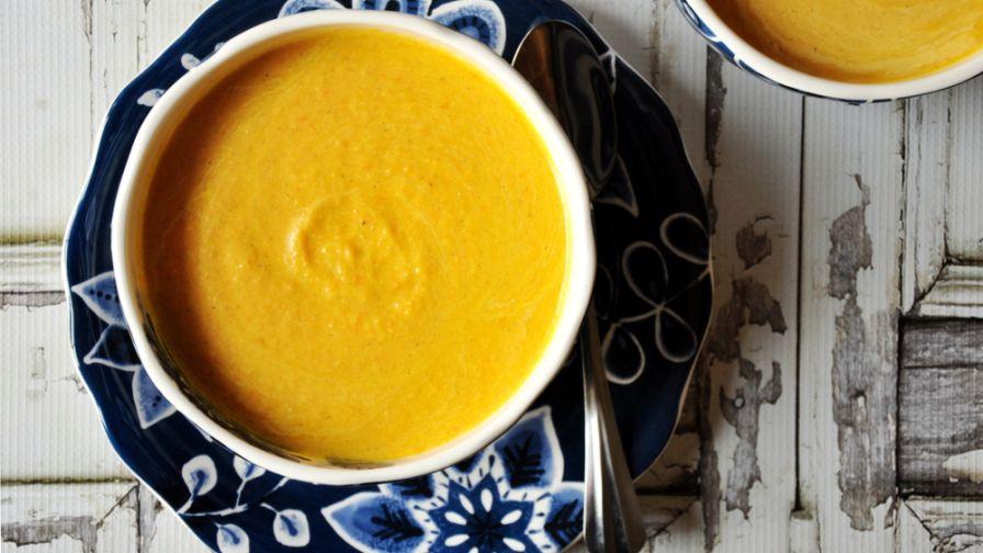 Fresh pumpkin soup by kerry simon recipe genius kitchen 6 view more photos save recipe forumfinder Choice Image