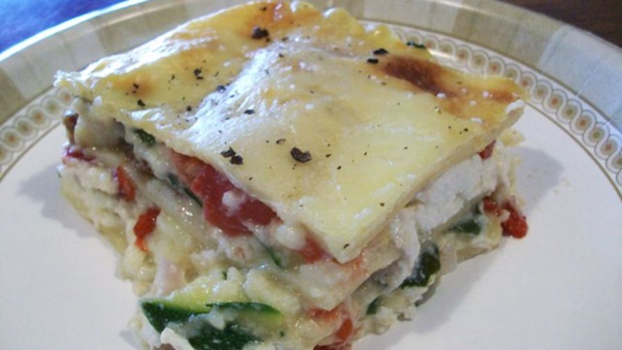 Vegetable lasagna with a thick bechamel sauce recipe genius kitchen 12 view more photos save recipe forumfinder Choice Image