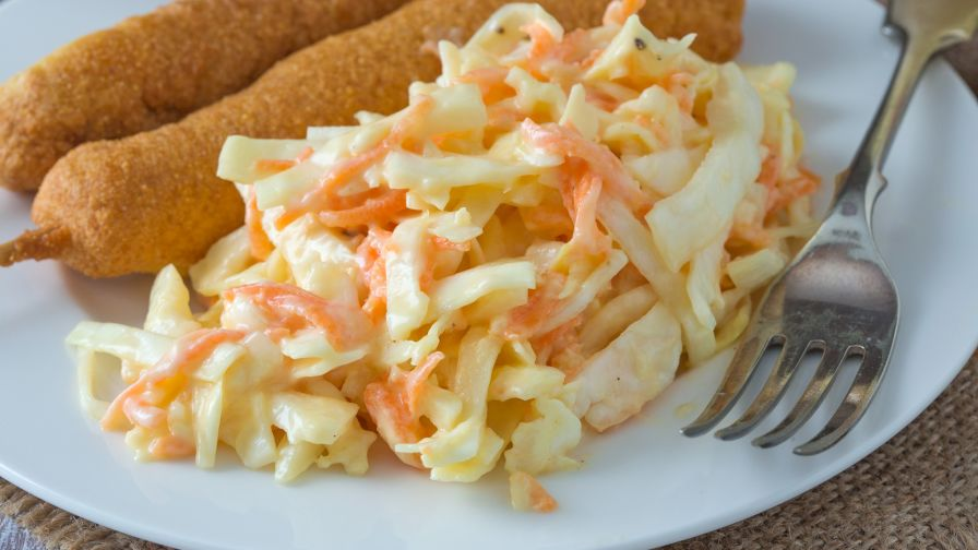 Creamy coleslaw recipe genius kitchen 9 view more photos forumfinder Choice Image
